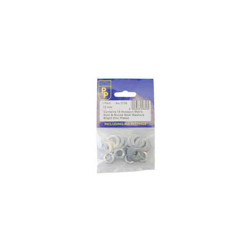 Pack of 2  Whit. Grade 4.8  Nuts & Washers