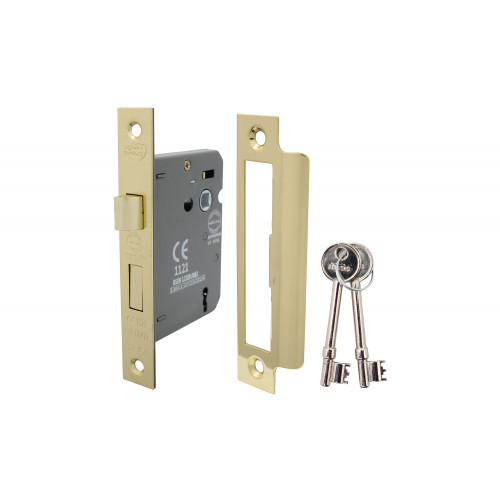 No.5010 Perry Shield CE Certifire 3 Lever Sashlock with Removable Plate - FD60