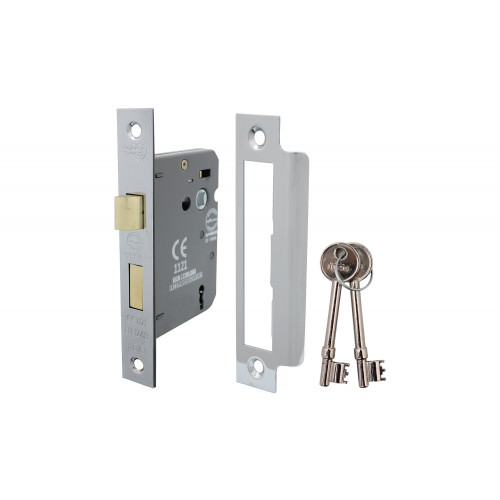 No.5010 Perry Shield CE Certifire 3 Lever Sashlock with Removable Plate - FD60 - CLAMPACKED