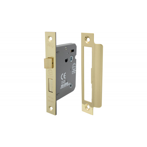 No.CLEARANCE/5011 Perry Shield CE Certifire Bathroom Lock with Removable Plate - FD60