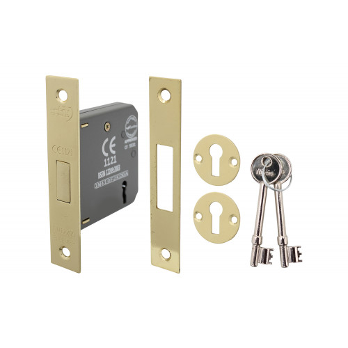 No.5012 Perry Shield CE Certifire 3 Lever Deadlock with Removable Plate - FD60