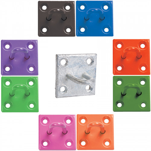 50mm x 50mm No.512 Chain Staple on Plate - PREPACKED
