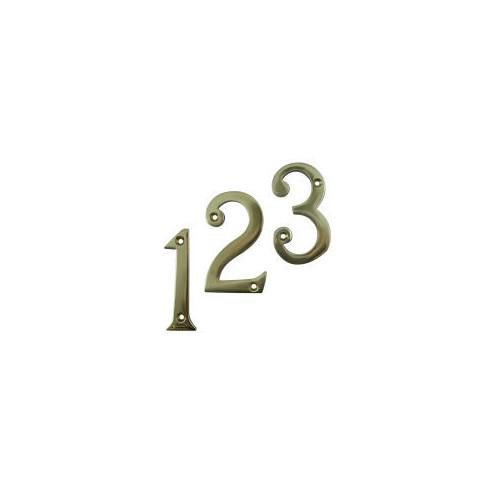 No.682V Solid Brass Victorian Door Number