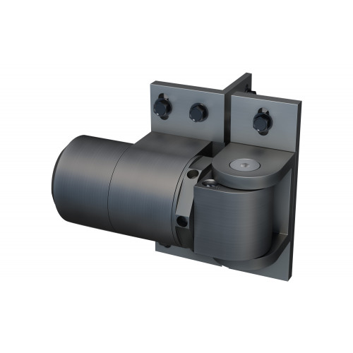 No.74108313 D&D SureClose ReadyFit Hinge/Closer with hold open feature and Screw on bracket (Type RF 108 S)