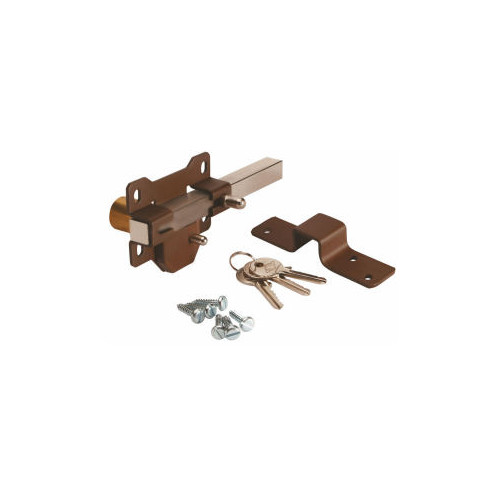 50mm No.B2P5 Single Locking Rimlock Bolts - Spring Latch on Inside