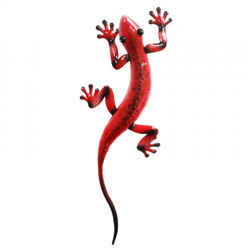 No.PA2002 Metal Gecko Wall Art - Red