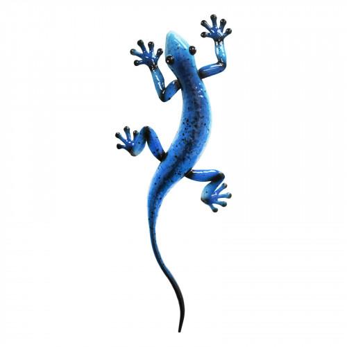 No.PA2003 Metal Gecko Wall Art - Blue
