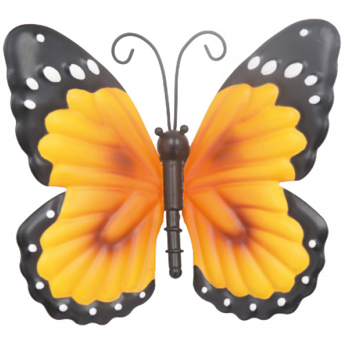Small Metal Butterfly - Orange