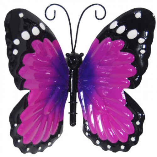 Small Metal Butterfly - Purple