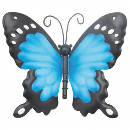 Small Metal Butterfly - Blue