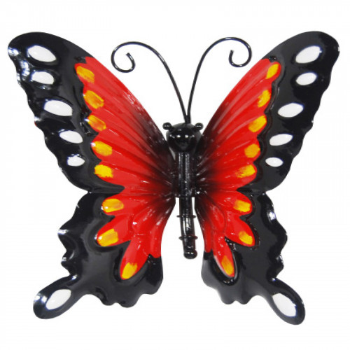 Small Metal Butterfly - Red
