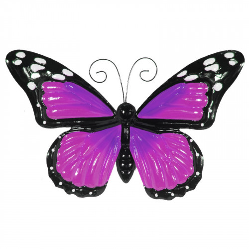 No.PA2302 Large Metal Butterfly with Flapping Wings - Purple