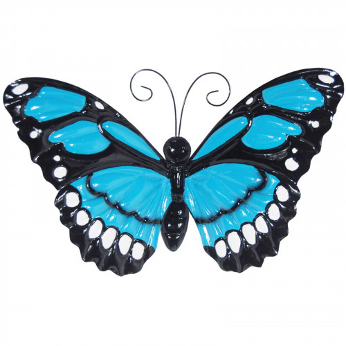 No.PA2303 Large Metal Butterfly with Flapping Wings - Blue