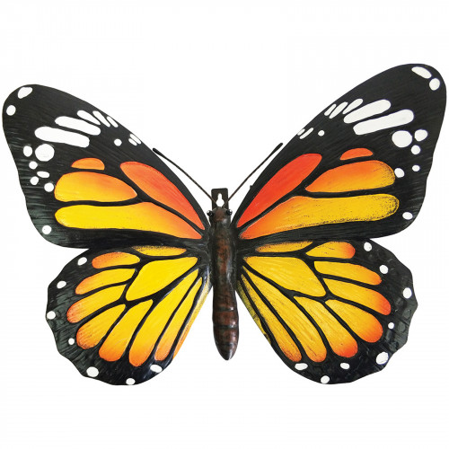 No.PA2353 Large Metal 3D Butterfly Wall Art - Orange