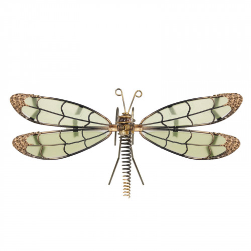 No.PA4001 Glass Wing Glow in the Dark Dragonfly Pot Hanger