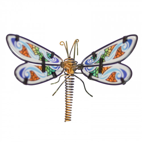 No.PA4020 Glass Wing Spring-tail Dragonfly Pot Hanger