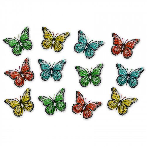 No.PA46804 Multicoloured Metal Butterflies