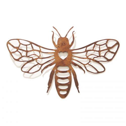 No.PA5000 Large Rusted Metal Honeybee Wall Art