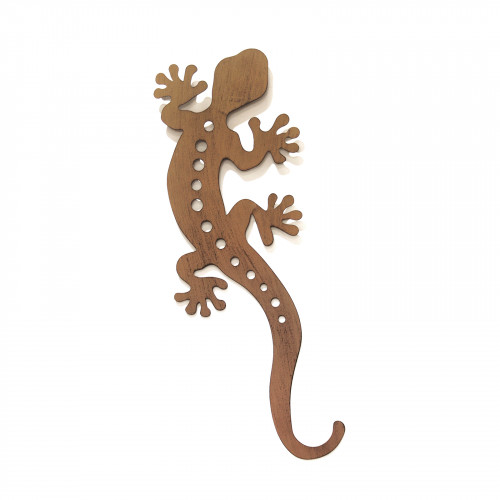 No.PA5001 Large Rusted Metal Gecko Wall Art
