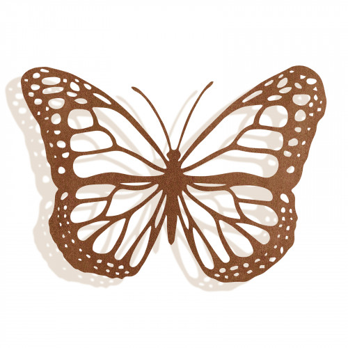 No.PA5002 Large Rusted Metal Butterfly Silhouette Wall Art