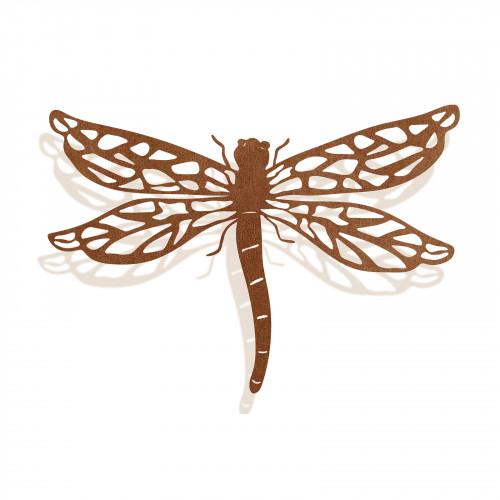 No.PA5003 Large Rusted Metal Dragonfly Silhouette Wall Art