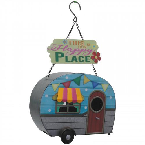 No.PB9062 Funky Metal Caravan Bird House