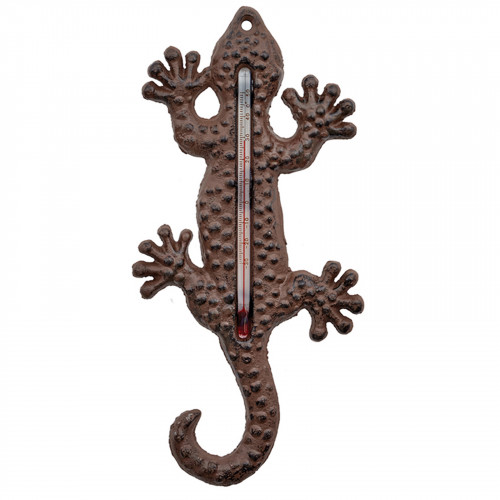 Cast Iron Lizard Thermometer PC4389