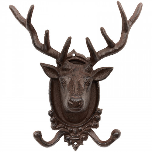 Cast Iron Stag Head Coat Hook PC4721