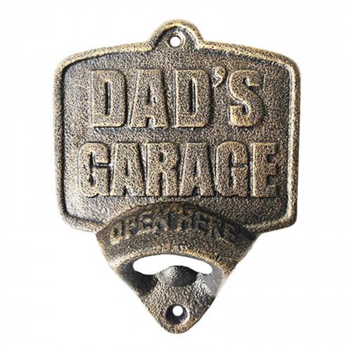 Cast Iron Dad's Garage Wall Mounted Bottle Opener