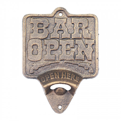 Cast Iron Bar Open Wall Mounted Bottle Opener
