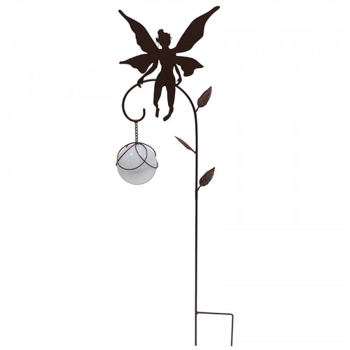 Solar Metal Hovering Fairy Stake - Black PF4500B