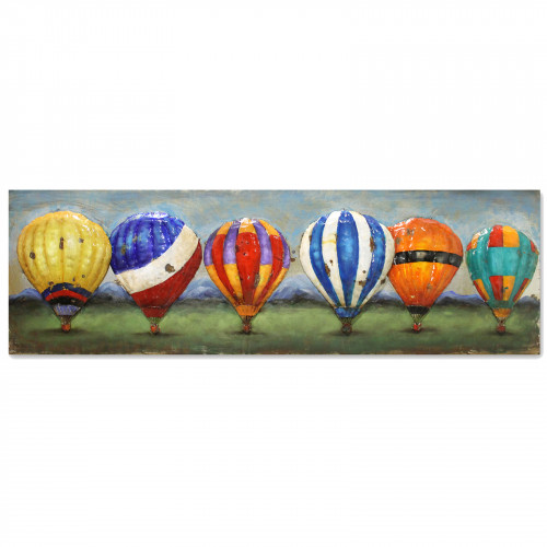 Balloons of Colour - 3D Metal Art on Metal Canvas PG1050