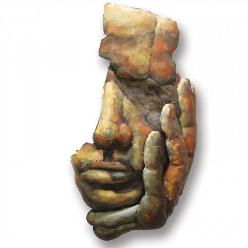 No.PG1545 Face of Man - 3D Metal Art on Metal Canvas