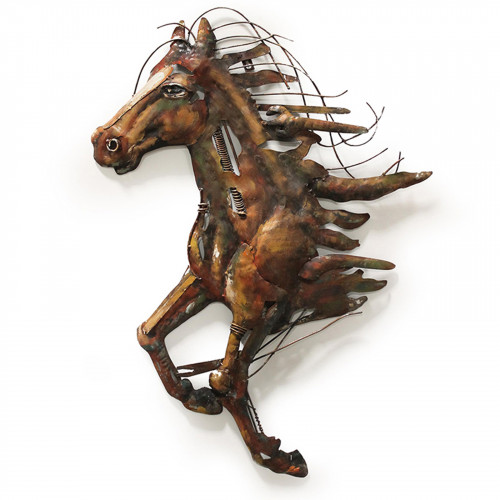 No.PG1565 Abstract Metal Horse - 3D Metal Art on Metal Canvas