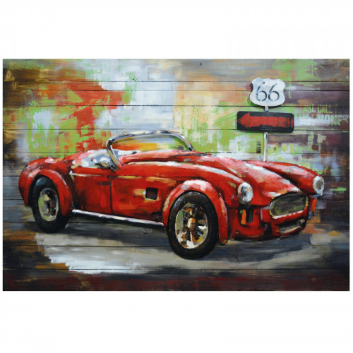 American Power - 3D Metal Art on Wood Canvas
