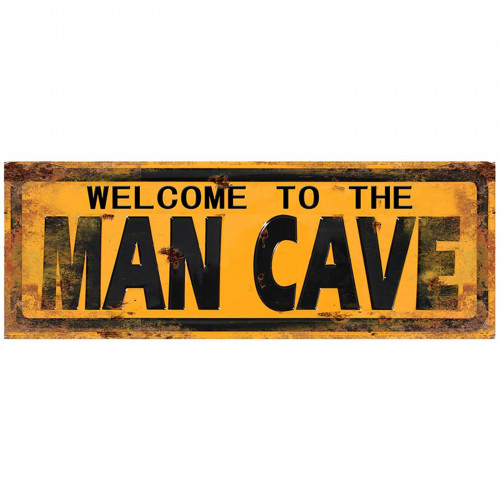 Welcome To The Man Cave Metal Plaque PH1521