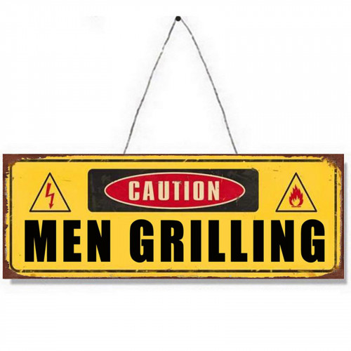 Men Grilling Metal Plaque PH1523