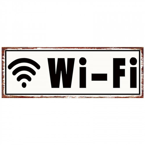 WiFi Metal Plaque PH1529