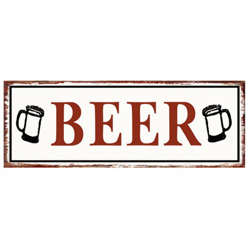 BEER Metal Plaque PH1530