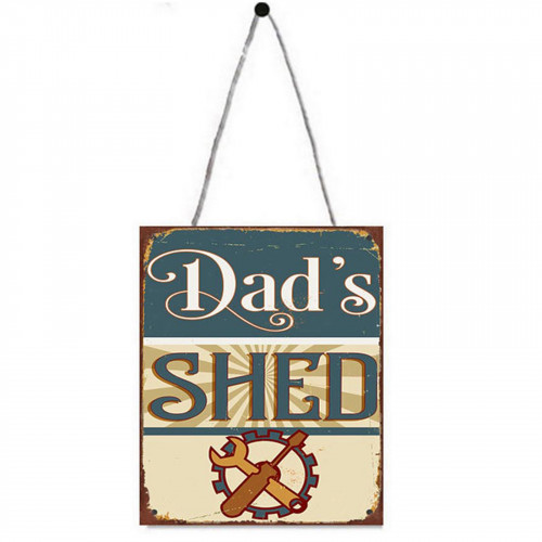 Dad's Shed Metal Plaque PH1602