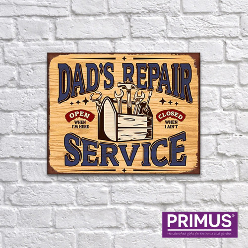 Dad's Service Repair Metal Plaque PH1701