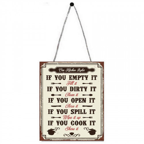 Kitchen Rules Metal Plaque PH1704