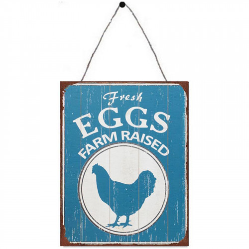 Fresh Eggs Metal Plaque PH1706
