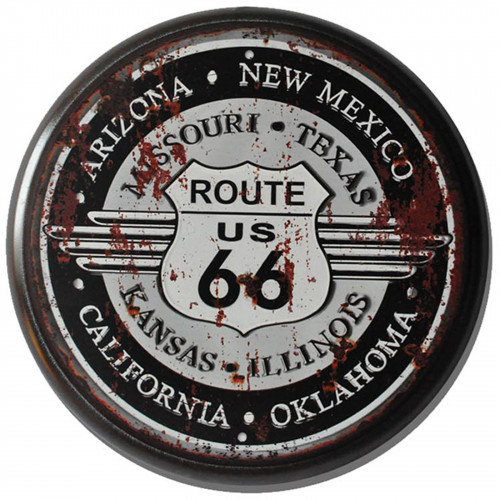 Route 66 Metal Circle Plaque PH2023
