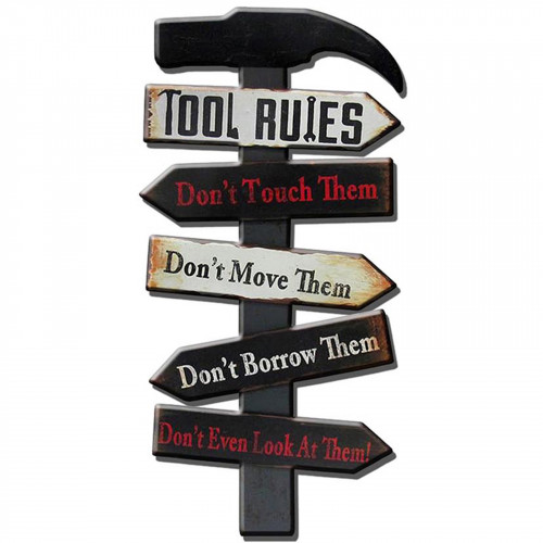 Tool Rules Metal Plaque PH2034