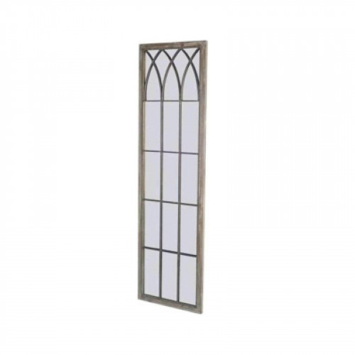 No.PM1020 Antique Metal Intersecting Tracery Square Top Garden Mirror