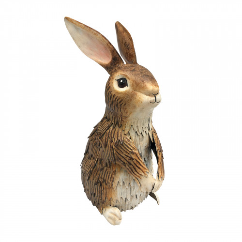 No.PQ1244 Metal Inquisitive Brown Rabbit