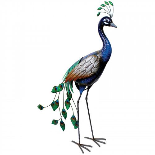 Standing Metal Peacock PQ1505