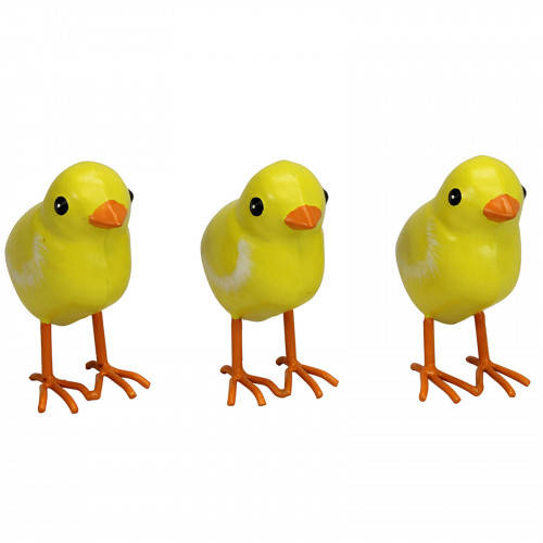 Small Metal Chicks - Set of 3 PQ1776
