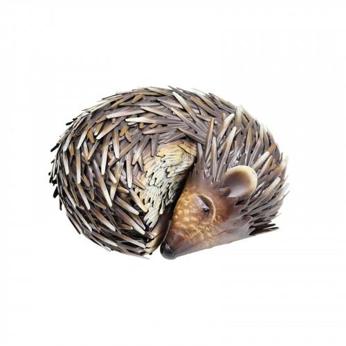 No.PQ1831 Large Metal Sleeping Hedgehog